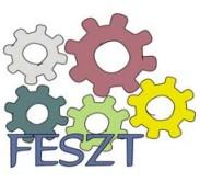 A képen a FESZT logója látható