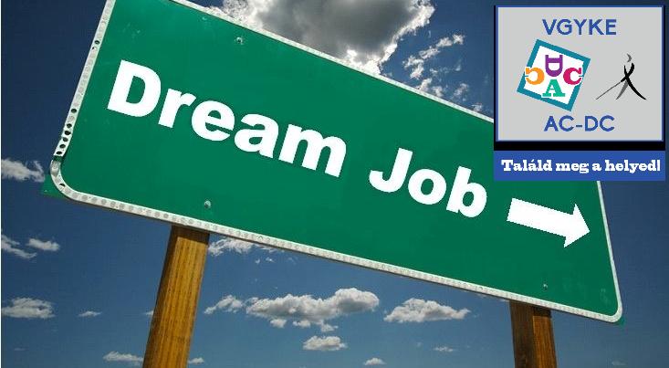 A képen egy tábla látható, angolul az álommunka felirattal