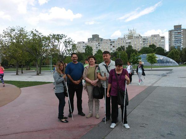 A képen a csoportunk egy része látható a találkozási ponton