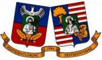 A képen a XVIII. kerületet jelképező címer látható
