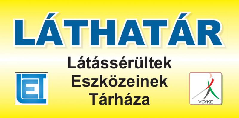 A képen a Láthatár bolt logója látható