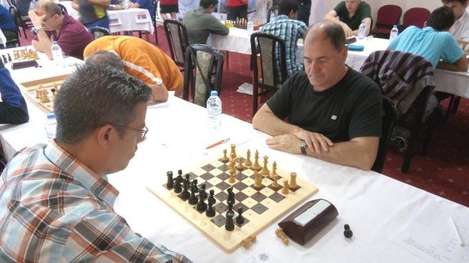 A képen a verseny egy pillanata látható
