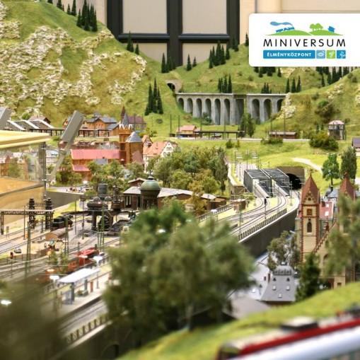 A képen a vasúti terepasztal egy részlete látható