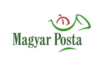 A képen a Magyar Posta logója látható