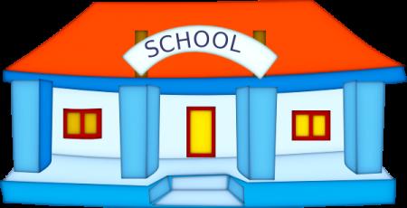 A képen egy iskolaépület rajza látható