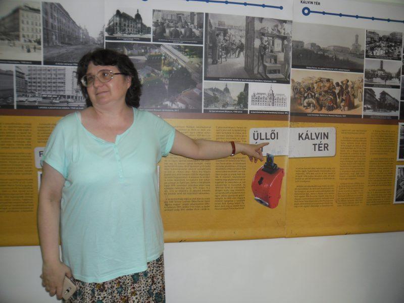 Az egyik ferencvárosi lámpás a kiállításon