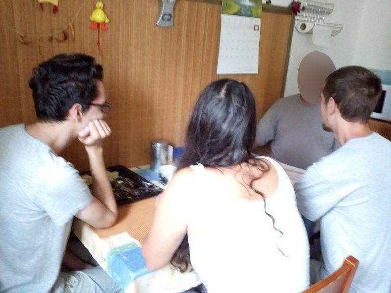 A képen az újbudai klubnap néhány résztvevője látható
