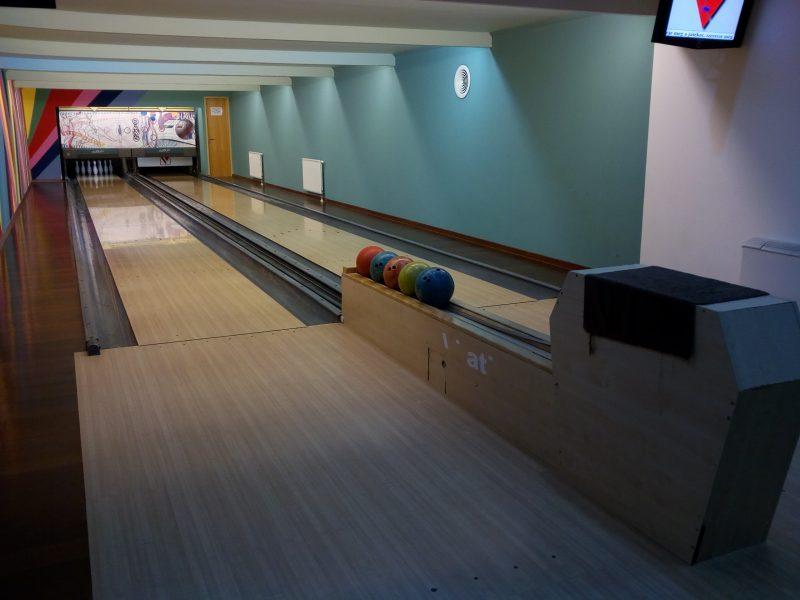 A képen az a bowling-pálya látható, ahova a második újbudai sportnap megszervezésre került