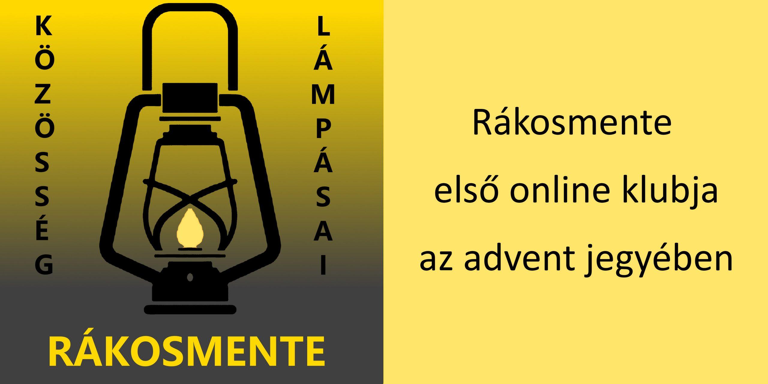 A fotó jobb oldalán sárga alapon fekete betűkkel a hír címe olvasható, a bal oldalon a rákosmenti Lámpás Klub logója látszik.