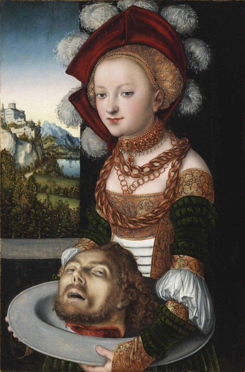 Id. Lucas Cranach: Salome Keresztelő Szent János fejével