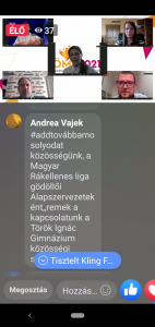 A képernyőfotón: a második kerekasztal-beszélgetés résztvevői