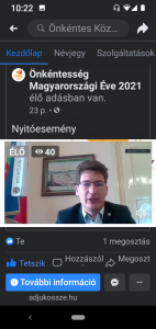 A képernyőfotón: Dr. Cser-Palkovics András