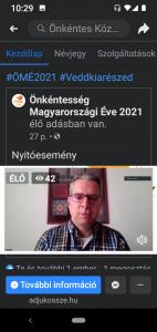 A képernyőfotón: F. Tóth András