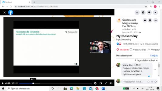 A képernyőfotón: Gyorgyovich Miklós