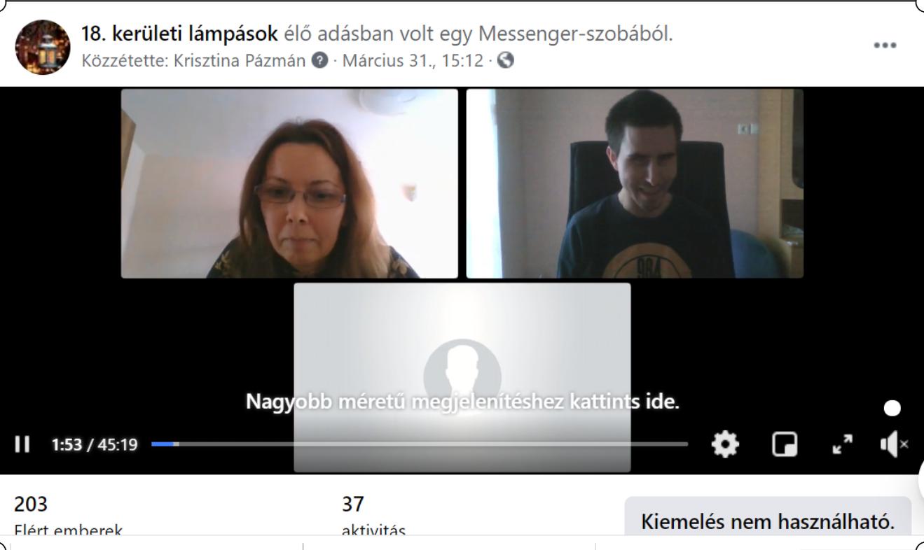Képernyőfotó a résztvevőkről