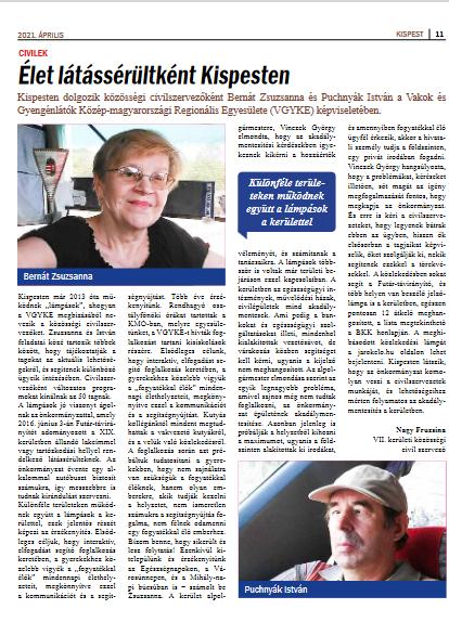 A Kispest Újság nyomtatott változatában megjelent cikk