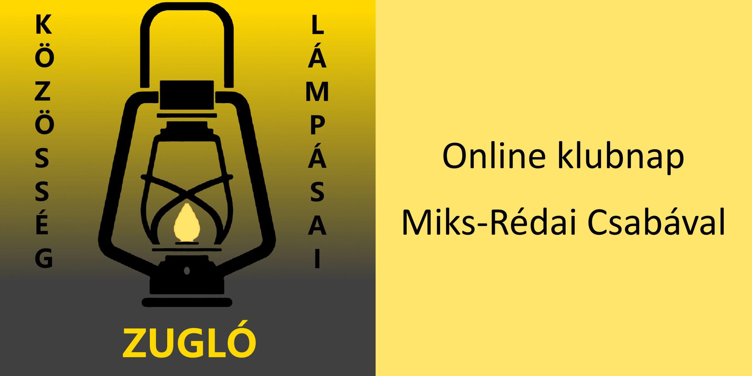A fotó jobb oldalán sárga alapon fekete betűkkel a hír címe olvasható, a bal oldalon a zuglói Lámpás Klub logója látszik.