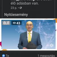 A képernyőfotón: Gundel Takács Gábor