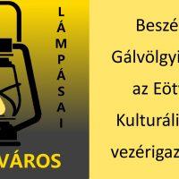 A fotó jobb oldalán sárga alapon fekete betűkkel a hír címe olvasható, bal oldalon a terézvárosi Lámpás Klub logója látszik.