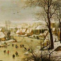 id.Peter Breughel: Téli tájkép madarakkal