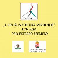 A képen felirat látható: a projekt és a támogató intézmények neve.